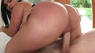 Big ass Latina Destiny shaking that ass on his shaft