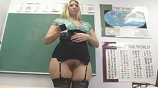 Teacher with booty live
